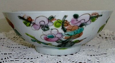 Early 1900 Famille Rose Chinese Porcelain Bowl