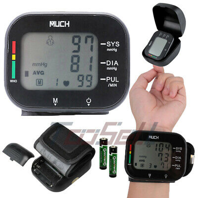Monitor Cuff Heart Beat Rate Pulse Meter Digital Automatic Wrist Blood Pressure