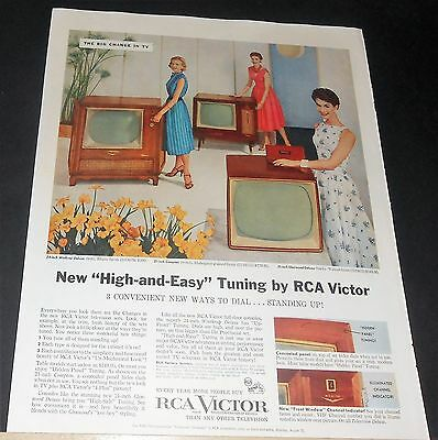 1955 RCA VICTOR TELEVISION AD ~ 3 models High & Easy Tuning