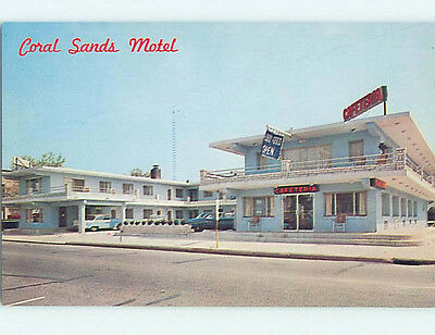 Pre-1980 OLD CARS & CORAL SANDS MOTEL Ocean City New Jersey New Jersey NJ j5900