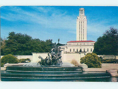 Unused Pre-1980 FOUNTAIN AT UNIVERSITY OF TEXAS Austin Texas TX L6484-12