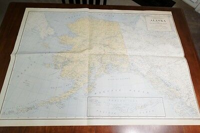 "US DEPT OF INTERIOR ALASKA E MAP  Edition 1948 48"" X 35 1/2"""