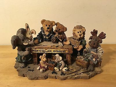 Boyds Bears Resin #2278 Noah and Co...Ark Builders Limited Edition #2551