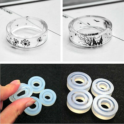 Silicone Ring Mold Making Resin Casting Jewelry Rings Mould Hand DIY Craft Tool