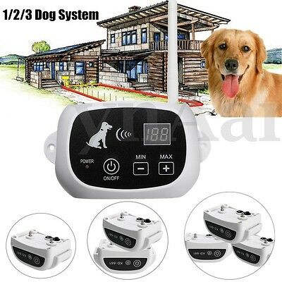 2/3 Dog Pet Electric Wireless Fence Containment System Fencing Strap Waterproof