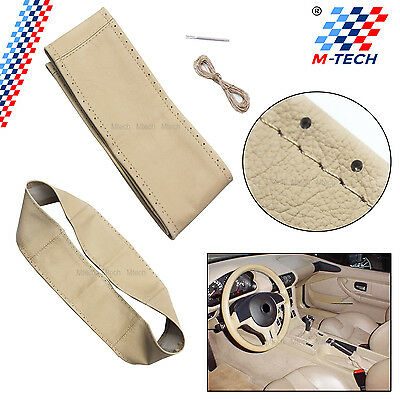 Cover Leather Real Steering Wheel Beige Bmw E46 Coupe Diameter External 39Cm+