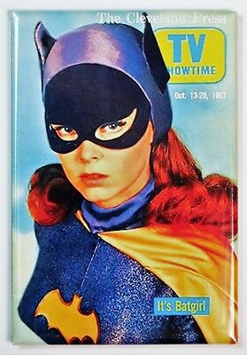 The Cleveland Press Batgirl FRIDGE MAGNET Batman Adam Wesy Yvonne Craig