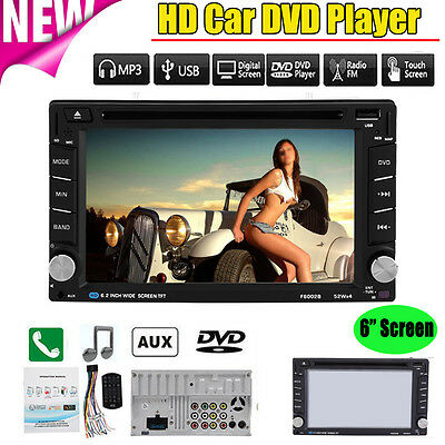"6.2"" Double 2 Din Car DVD Player Radio Stereo GPS MP3 USB Bluetooth HD Camera"