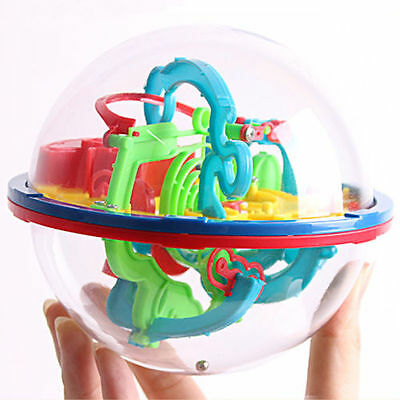 100 Barrier 3D Addictaball Kids Large Addict Ball Maze Puzzle Game Fun Gift Toys