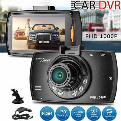 New 1080P 2.7″ HD LCD Car Dash Video Camera DVR Cam Recorder Night Vision UK