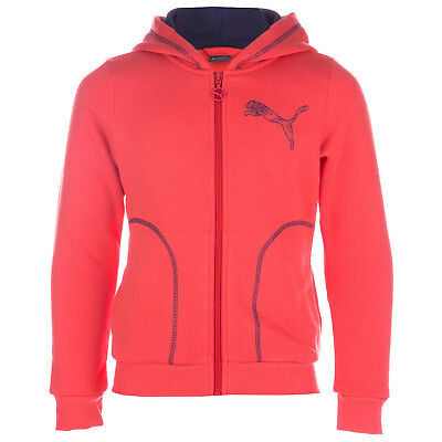 Junior Girls Puma Fun Graphic Essential Hoody In Coral- Hooded