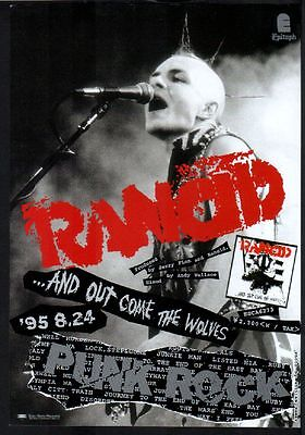 1995 Rancid And Out Come The Wolves JAPAN album press ad / mini poster advert r9