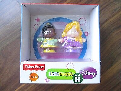 LITTLE PEOPLE Princess & the frog & Tangled FISHER PRICE Tiana & Rapunzel DISNEY