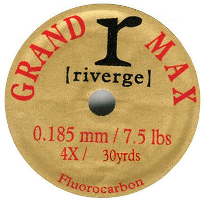 Riverge NEW Grand Max Fluorocarbon 30 Yard High Breaking Strain Fly Fishing Line
