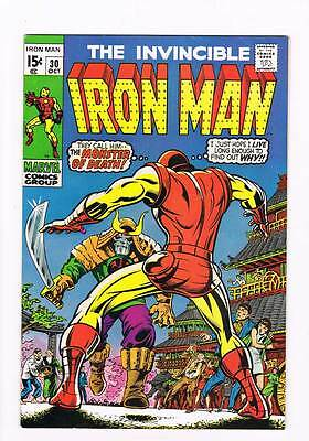 Iron Man # 30  The Monster of Death ! grade 7.5 scarce book !!