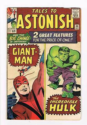 Tales to Astonish # 60  1st of regular Hulk series grade 4.5 scarce book !!