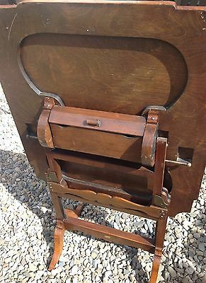 Antique Davrard Folding Card/Coffee/Side Table Fire Screen