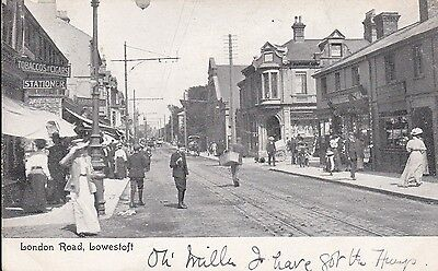 Suffolk Lowestoft London Road Posted 1905