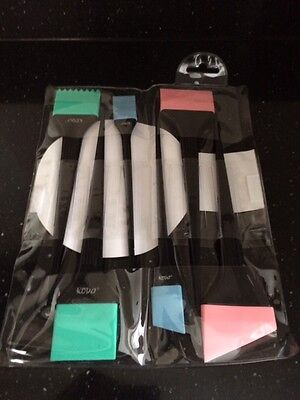6 Piece KODO Silicone Hairdressing Colouring/Tint Set - Balayage, Highlight etc