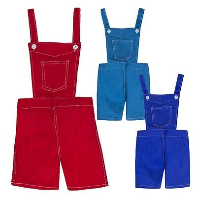 Boys Bright Colour Bib Pocket Summer Dungaree Shorts 18 Months to 4 Years