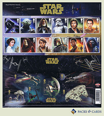 2015 Star Wars - The Force Awakens Stamps + Mini Sheet Presentation Pack PP492