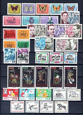East-Germany/GDR/DDR: All stamps of 1964 in a year set complete, MNH