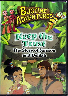 Bugtime Adventures Keep The Trust Samson And Delilah NEW DVD Bible Stories
