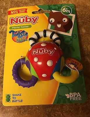 Nuby Playful Twista ball Teether Toy  ~Ages 6+ Months~ BRAND NEW   (BPA FREE)