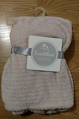 ADIRONDACK Baby Blanket Soft Pink Peach Infant Lovey Toddlers Girls Waffle NEW