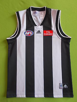 Shirt COLLINGWOOD FC (Youth L) ADIDAS 2002 PERFECT !!! Only ONE AFL THE MAGPIES