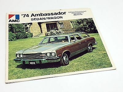 1974 American Motors AMC Ambassador Sedan Wagon Brochure