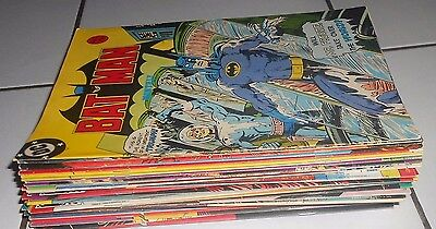 Lot Of 31 Uk Dc Batman Comics , 1980S .  All Vg Condition . Origin .