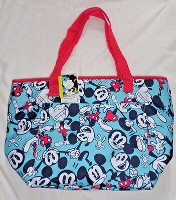 Disney Store Mickey Mouse Summer Fun Insulated Cooler Tote Nwt