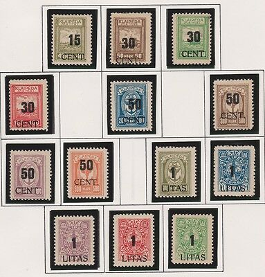 MEMEL Under Lithuanian Occupation Scott N70-N82 Complete Set MINT OG LH F/XF