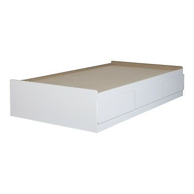 "Fusion Twin Mates Bed (39"") with 3 Drawers, Pure White - 9007D1"