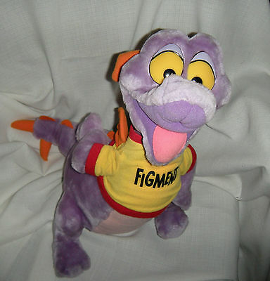 "Vintage Disneyland Disney World Figment Epcot Center Plush Dragon 17"" Toy Korea"