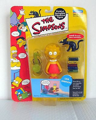 The Simpsons Wave 1 Playmates Action Figure  Lisa Simpson