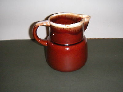 """Vintage McCoy 6"""" Tall Pottery Brown Dip Pitcher #132 Tall 32 oz Jug Made In USA"""