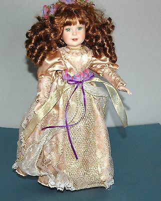 """Porcelain Doll 15"""" Tall By Patricia Rosel  L-344 Beautiful Doll Porcelain/Cloth"""