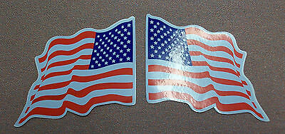 18 american wavy flag stickers 9 left & 9 right.