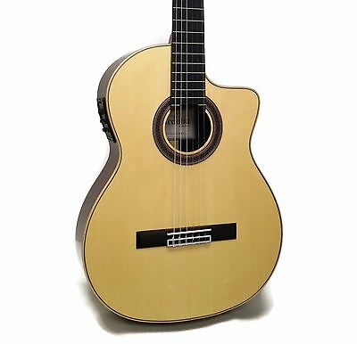 Cordoba GK Studio Negra Flamenco Nylon String Acoustic-Electric Guitar + Gig Bag