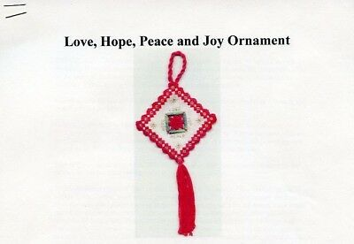 Love Hope Peace and Joy Ornament Hardanger Pattern - 30 Days to Shop & Pay