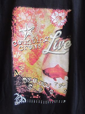 2000 Counting Crows Live Local Crew Summer Tour Concert Mens Xl Black T-Shirt