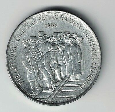 GREAT CANADIAN MOMENTS THE LAST SPIKE 1885 CANADIAN PACIFIC RAILWAY 32mm