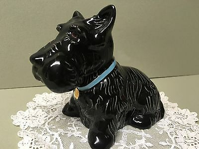 """Vintage WADE Blow Up""""NENNIE"""" Scottish Terrier Figurine Produced For Fical -Mint!"""