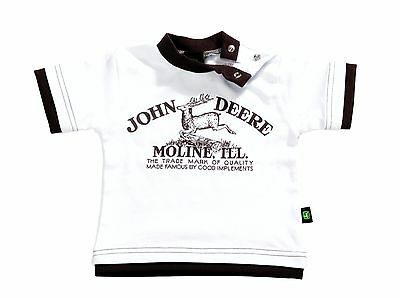 John Deere Babies Brown and White T-Shirt - Available in 3-18 Months