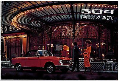 Peugeot 304 Coupe Et Cabriolet Catalogue 6 Pages 1972 Format 29 X 19 Pays-Bas