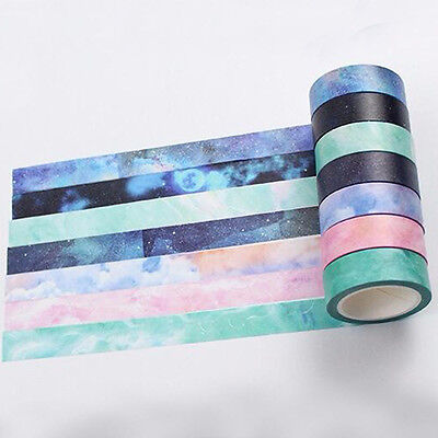 DIY Self Adhesive Galaxy Washi Masking Tape Sticker Craft Decor Decorative