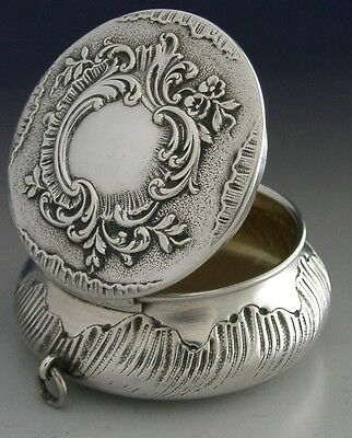 BEAUTIFUL DECENT SIZED FRENCH SILVER SNUFF BOX c1900 ANTIQUE