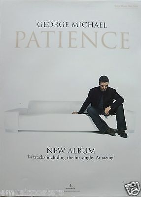 """GEORGE MICHAEL """"PATIENCE"""" THAILAND PROMO POSTER - George Sitting On Couch"""